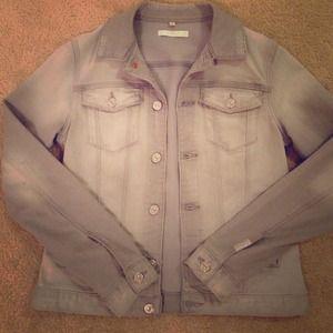 **NWOT 7 for all mankind grey denim jacket**