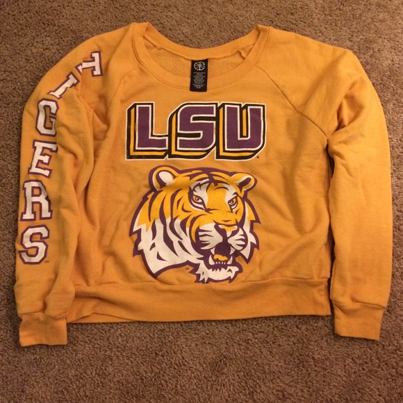 49df7a1f462b3c Forever 21 Tops - SALE 🗽 Forever 21 LSU cropped sweatshirt