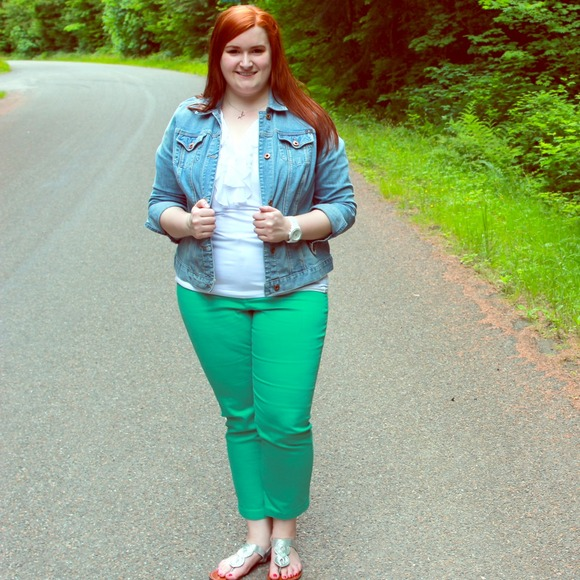 green plus size pants - Pi Pants