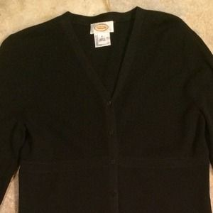Women's Talbots Black Cardigan Size Small