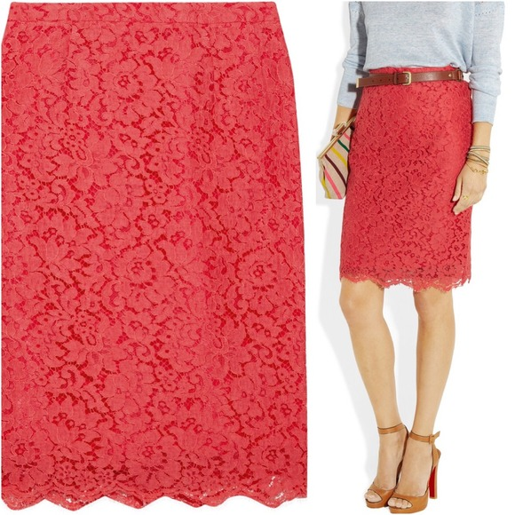 J. Crew Dresses & Skirts - new J.Crew Collection Lace Pencil Skirt size 0