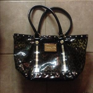 Clear Leopard Used Betsey Johnson Purse