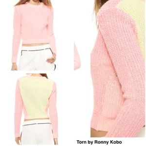 Torn by Ronny Kobo Sweaters - New Torn by Ronny Kobo Chunky Cropped Sweater