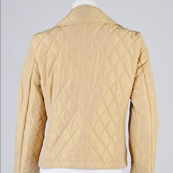 Burberry Burberry London Gold Quilted Bretley Jacket