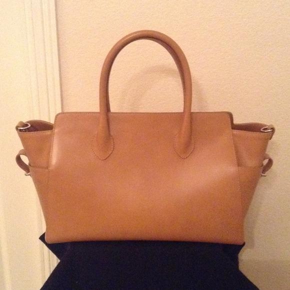 Handbags - ITALIAN VACHETTA LEATHER TRAPEZE HANDBAG. SALE! 3a0cc1328f9d2