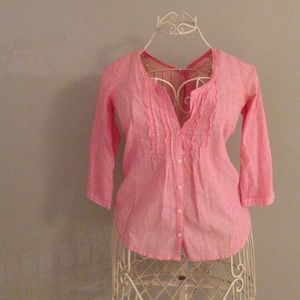 Ruehl No. 925 Tops - BOGO SALE {ruehl no 925} sheer pink top