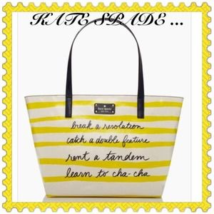 "KATE SPADE TOTE ""HOST PICK"""