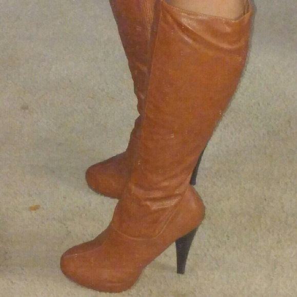 camel color knee boots 10 from the s closet on poshmark