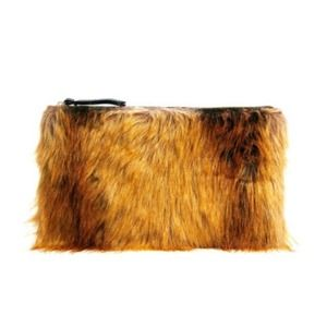 ASOS Multicolor Faux Fur Clutch Bag