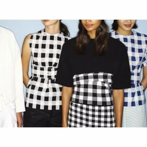 derek lam checkered skirt