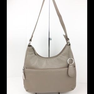 Giani Bernini Handbags - Designer Giani Bernini taupe Leather Hobo Handbag