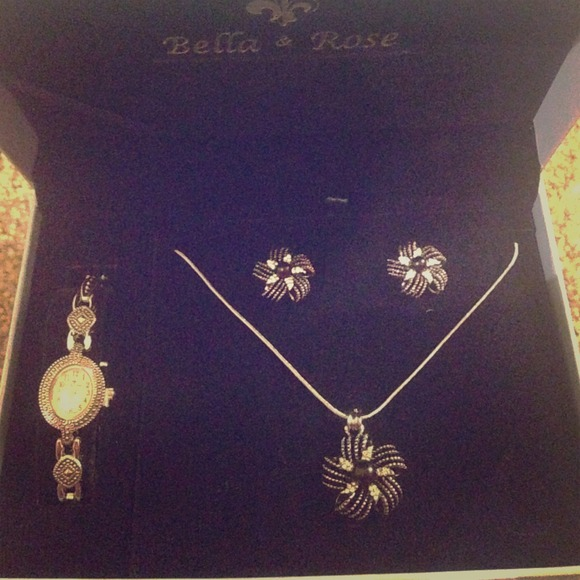 48 off Bella Rose Accessories Bella Rose Watch And Jewelry Set