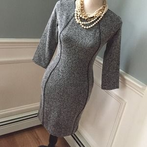 Tweed zip back dress