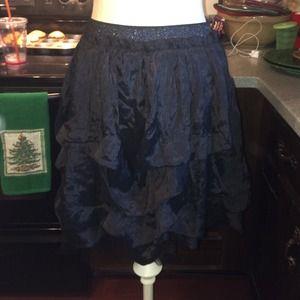 Areve Dresses & Skirts - Areve Satin & Tulle Ruffle Skirt