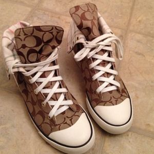 Coach Bonney High Top Sneakers Size 8
