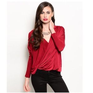 Beautiful Oxblood Slouchy Top