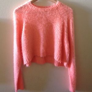 Topshop Sweaters - TOPSHOP Fuzzy Peach Sweater