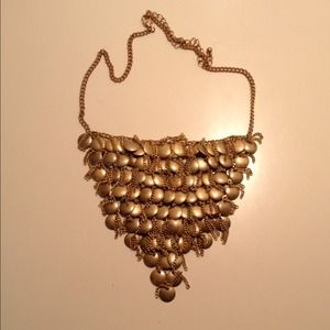 Statement brass Bib Necklace