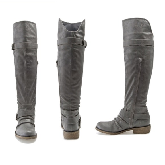 65% off Diba Boots - Gray Riding Boots from Martha's closet on ...