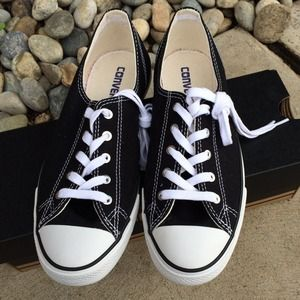 Converse Shoes - Black Chuck Taylor All Star Fancy