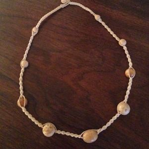 Chunky wooden bead hippie necklace