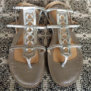 Coach Shoes - Coach Silver Gladiator Sandals