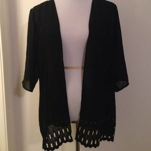 Beautiful polyester sheer jacket