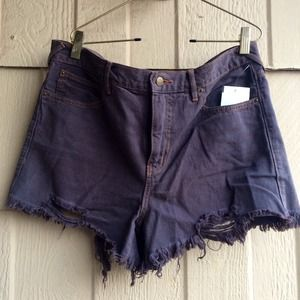 Free People Denim - Free People Distressed Shorts