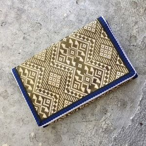 Bags - Blue and Gold Tri-Fold Wallet