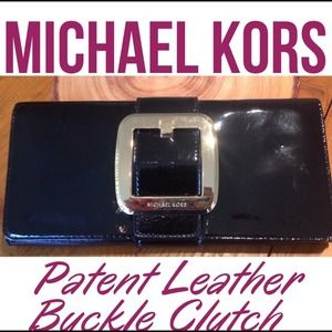 ⬇️SALE⬇️ Michael Kors Patent Leather Buckle Clutch