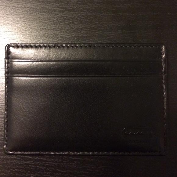 wholesale dealer 20ba5 6098c Coach SLIM CARD CASE IN WATER BUFFALO NWT