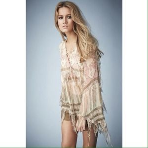 Topshop Tops - [Kate Moss x Topshop]tassel feather blouse
