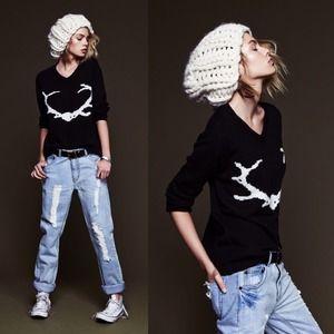 For Love and Lemons Sweaters - For Love & Lemons antler sweater
