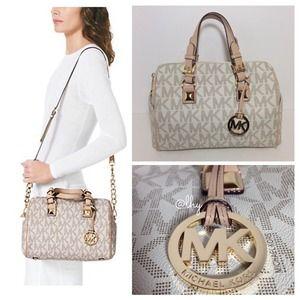 official michael kors grayson medium satchel vanilla 5c62b 4534f rh falsterboyoga com