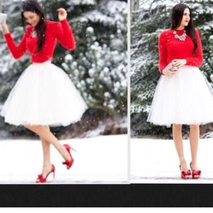 New Winter Wonderland White Tulle Skirt❤️