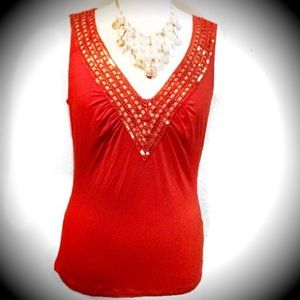Cache Tops - 🌹Host Pick NWOT Cache Top Size Large with Sequins