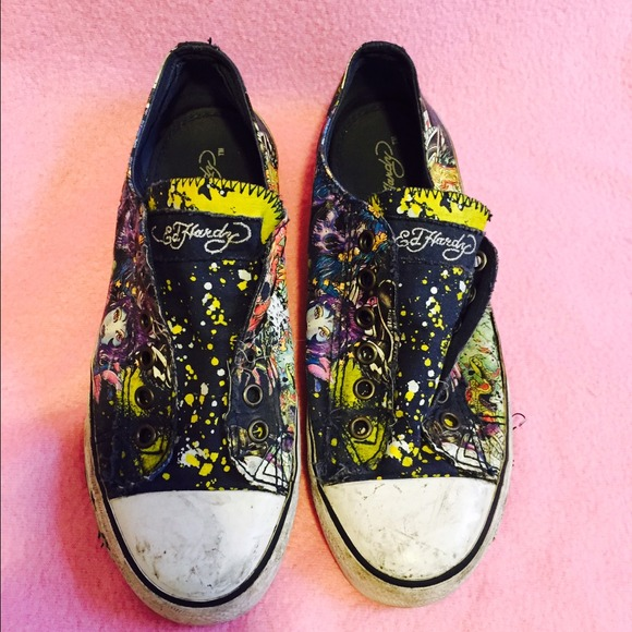 77 ed hardy shoes ed hardy size 7 canvas shoes from