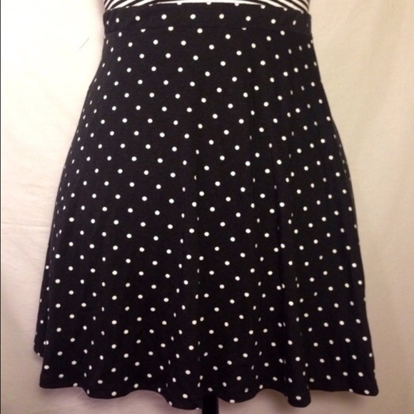 68 dresses skirts black polka dot high waist