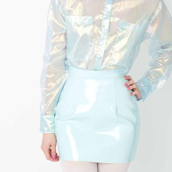 79 american apparel dresses skirts baby blue
