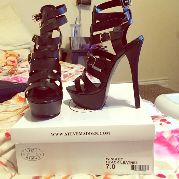 a6eea84c5ae Steve Madden Winslet Strappy Platform 4 in. Heels.  M 548e2fa593c6360538040ce0
