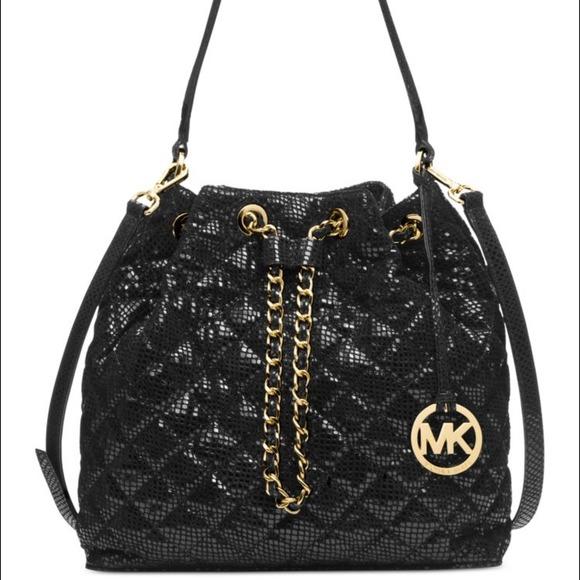 34% off Michael Kors Handbags - Michael Kors Frankie Quilted Large ... : michael kors black quilted handbag - Adamdwight.com