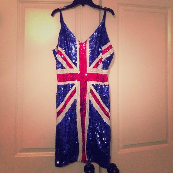 Ginger Spice Girl Costume Ladies Union Jack Fancy Dress ...  Ginger Spice British Dress