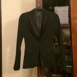 Satin Lapel Forever 21 Black Blazer - Never Worn