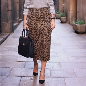 FinalAsos pencil skirt in textured leopard print 0
