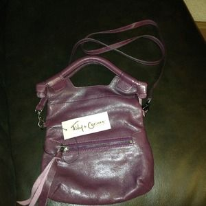 Foley & Corinna city mini tote in plum/wine