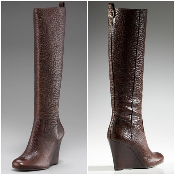 60% off Tory Burch Boots - NWOB Tory Burch Dabney Wedge Tall Boots ...