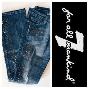 7 for all Mankind 7FAM rhinestone jeans