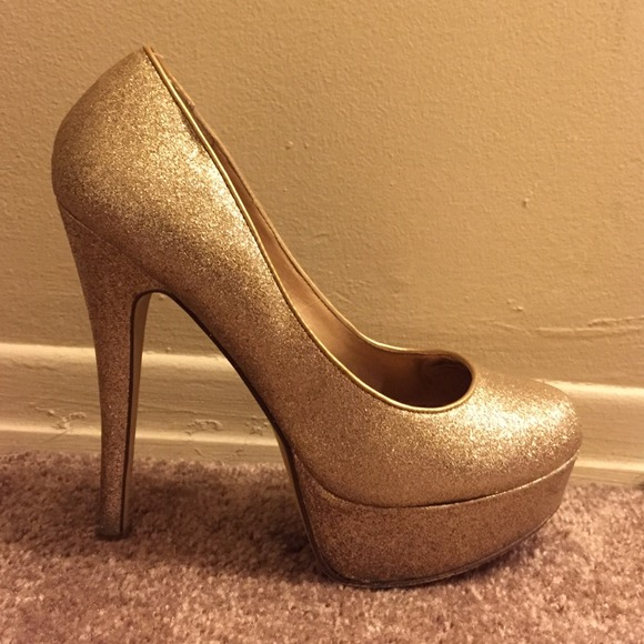 65% off ALDO Shoes - ALDO GOLD PUMPS sparkly heels from Lin's ...