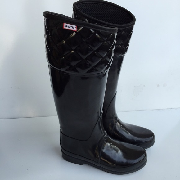 68% off Hunter Boots - Hunter quilted top rain boots sz 7 hardly ... : quilted rainboots - Adamdwight.com