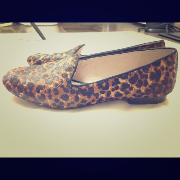 77a4cc53390b Vince Camuto Calf Hair Leopard Print Smoking Flats.  M_548edebb79207405b02b8f58